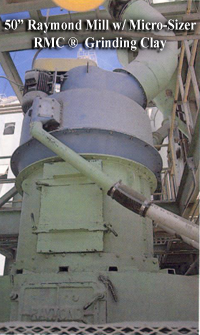 raymond roller mill with micro-sizer rmc classifier