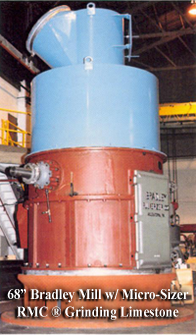 Bradley roller mill with Micro-Sizer RMC air classifier